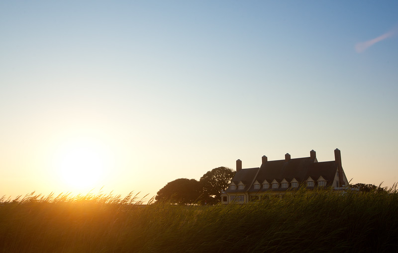 Whalehead Club at sunset