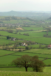 The Mendips and Glastonbury Tor