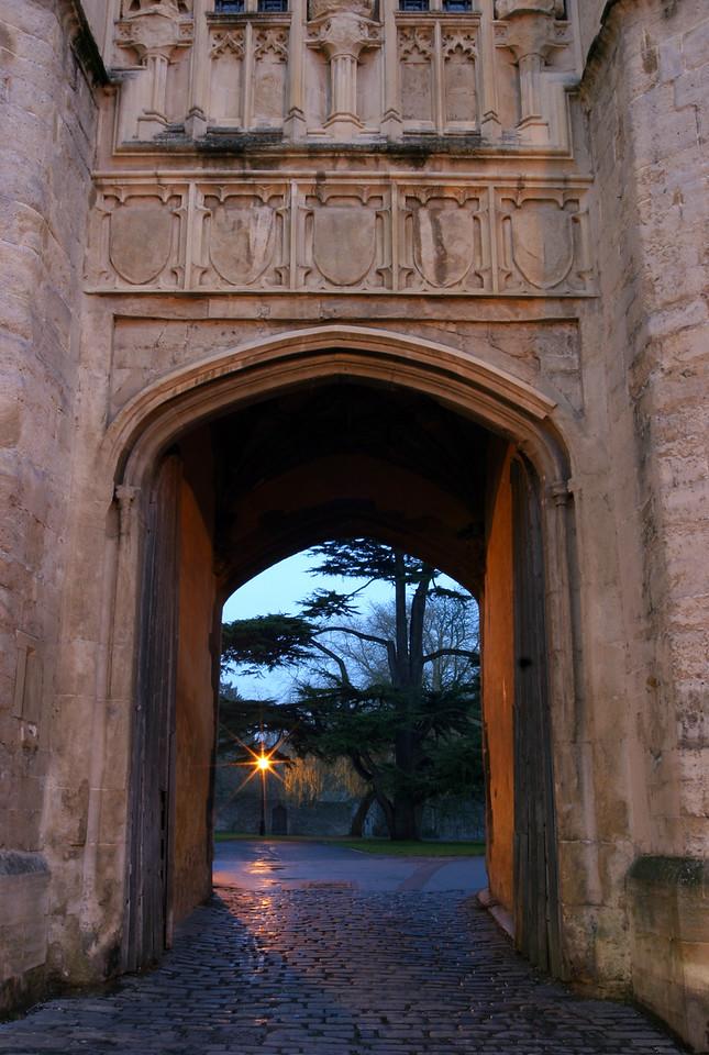 Wells Bishop's Palace gates