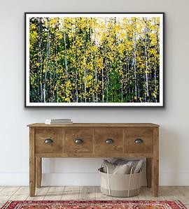 'Autumn Aspen' Fine Art Print Framed/Unframed