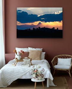 Fisher Sunrise Canvas or Metal Print