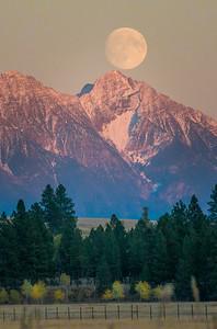 Steeples Moon Rise (vertical)