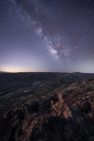 White Rock Canyon and the Milky Way