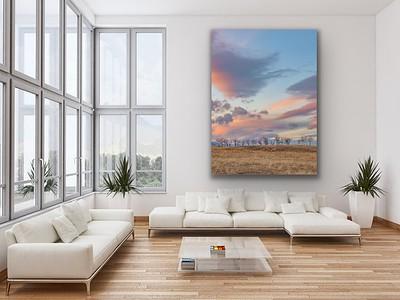 'Pastel Prairie' Canvas Wrap