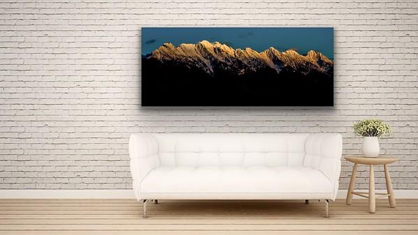 'Steeples Sun Set' Canvas Wrap or Float Mount Metal Print
