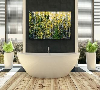 'Autumn Aspen' Canvas Wrap or Float Mount Metal Print