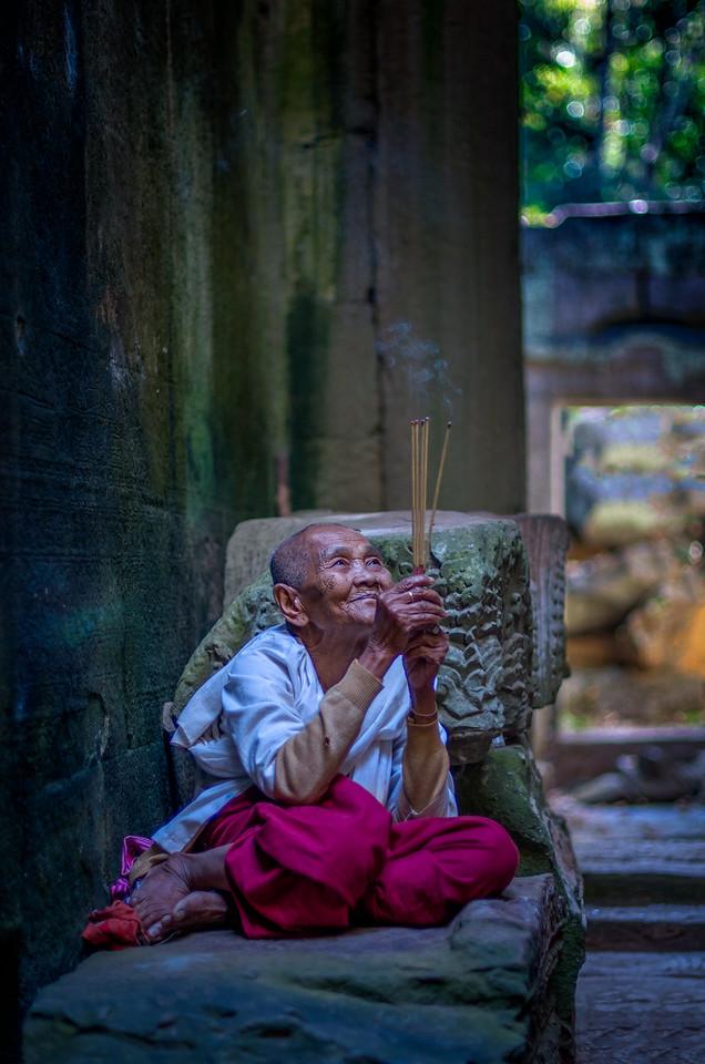 Priestess at Preah Khan
