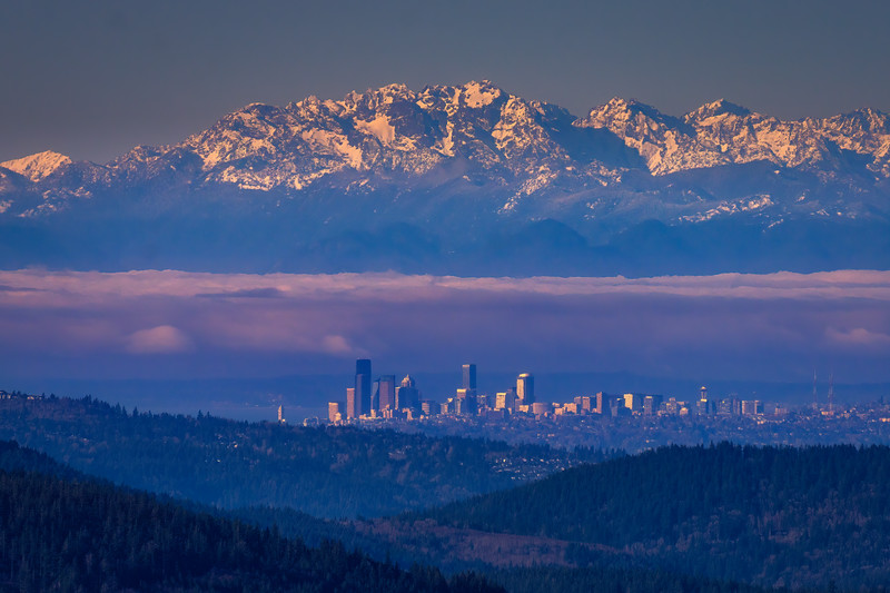 Seattle From Mail Box Peak