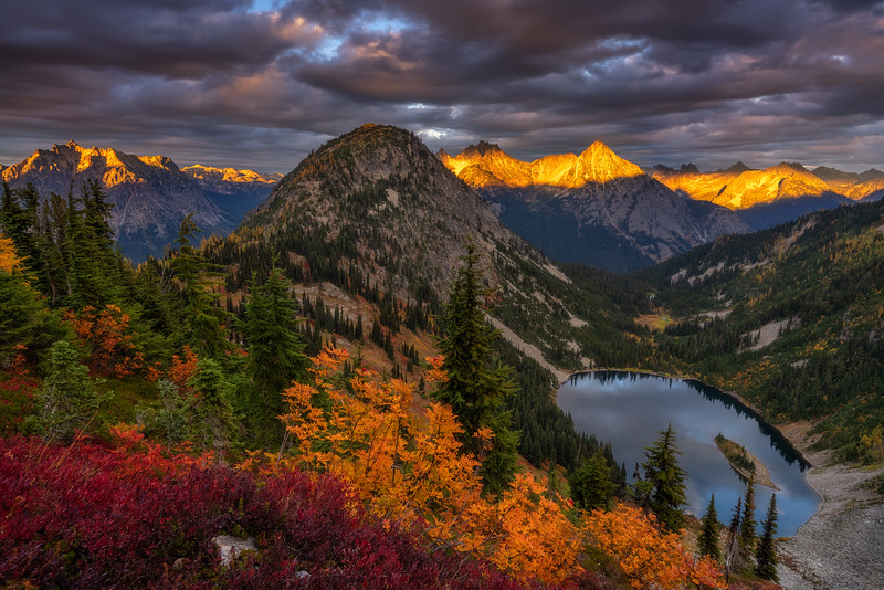 Autumn Fire in the Mountains