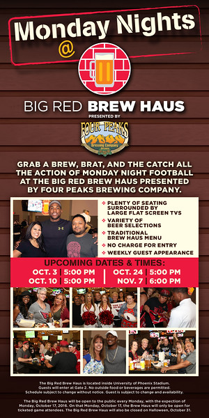 Arizona Cardinals Monday Nights @ Big Red Brew Haus