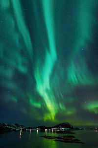 Engeløyabrua aurora borealis