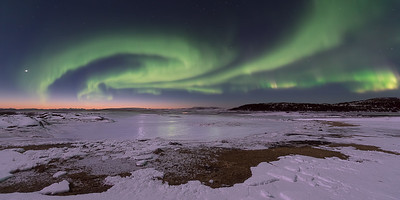 Sandviknesset panorama northern light