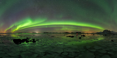 Puzzle panorama northern light