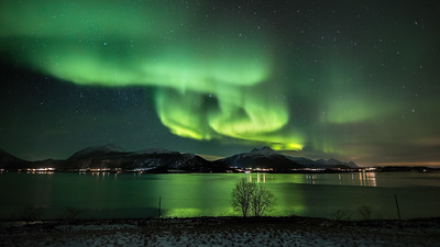 The Wave from Engeløya northern light