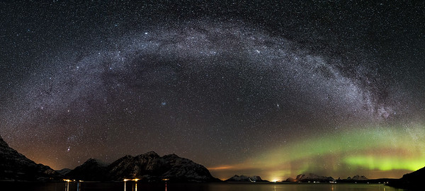 Milky way panorama Steigen