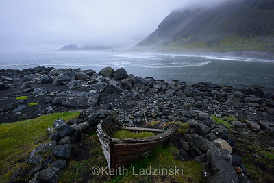 Lonely Boat - Hofn, Iceland