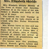 Mrs. Elizabeth Shields  grandmother of Jo Parmenter. (Photo ID: 35749)