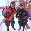 New Year's Eve day dive at Dutch Springs<br /> <br /> Michael Rothschild, Pete Bucknell