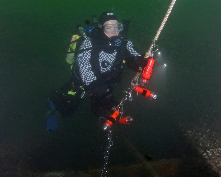 Emma Schwartz<br /> <br /> Diving on the wreck of the Fisherman's Barge