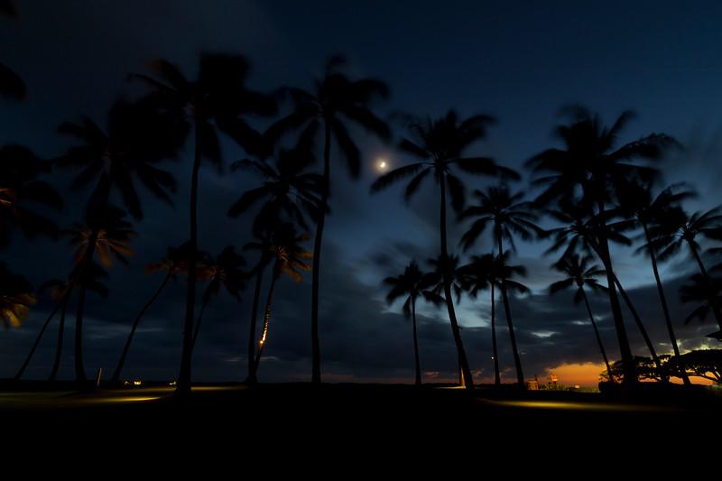 "Kiahuna Plantation Post-Sunset<br /> Poipu Beach, Kauai<br /> By Brett Downen<br /> <br /> Float Mounted MetalPrint<br /> Available sizes: 4"" x 6"", 8"" x 12"", 16"" x 24"". 24"" x 36"""
