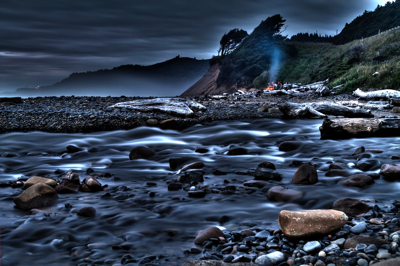 "After Hours<br /> Beverly Beach, Oregon<br /> By Brett Downen<br /> <br /> Float Mounted MetalPrint<br /> Available sizes: 4"" x 6"", 8"" x 12"", 16"" x 24"". 24"" x 36"""