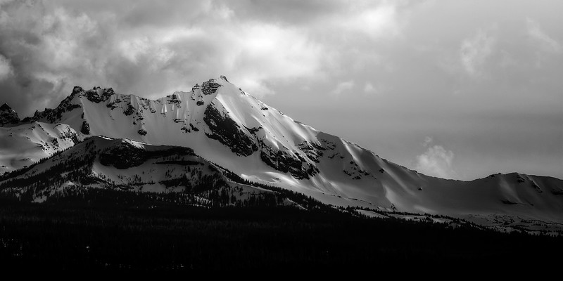 Snowy Ridges of Sisters Mountains