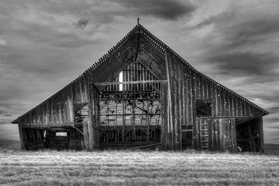 The Sturdy Forgotten Barn Near Dufur Oregon  by Brett Downen