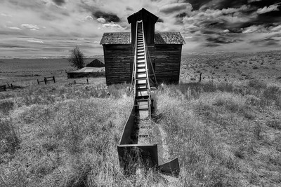 Grain Elevator  near Rosebush, Oregon  by Brett Downen