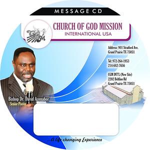 CGM Message CD label