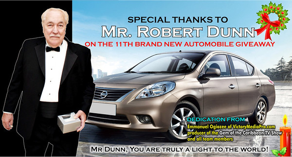 Mr Dunn Car giveaway