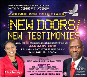 RCCG HOLY GHOST ZONE NEW YEAR FLYER