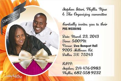 Stephen & Phyllis Pre Wed Invite
