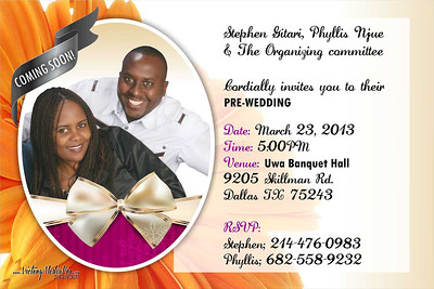 Stephen & Phyllis Pre Wed Invite 2