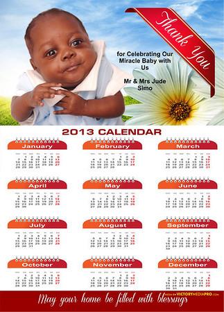 Baby Magnet Calendar