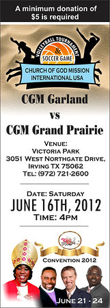 2012 Convention Game Ticket