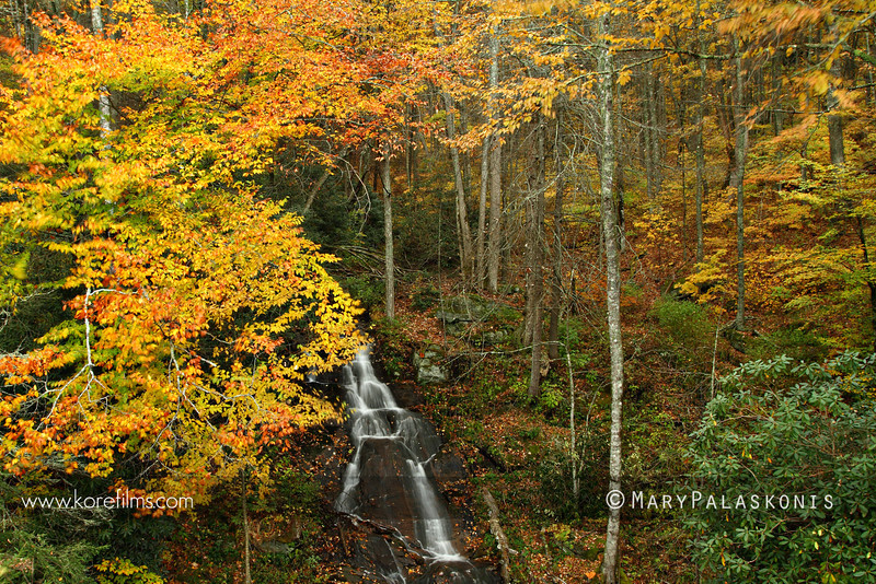 Waterfall along the Blue Ridge Parkway