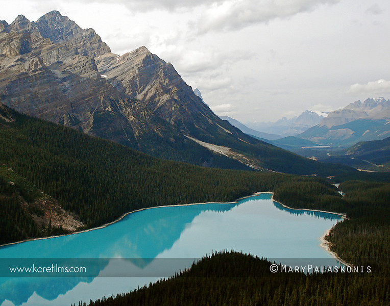 Photograph by Mary Palaskonis<br /> <br /> Peyto Lake in Banff National Park. Alberta, Canada