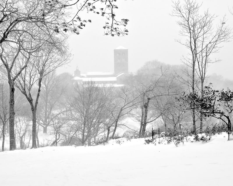 The Cloisters in Winter