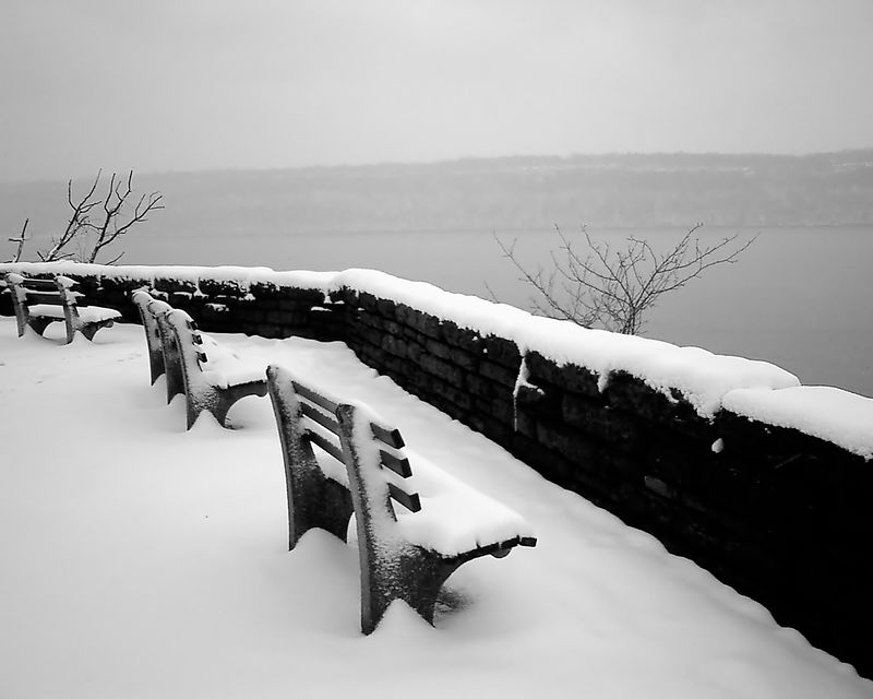 Fort Tryon Overlook and the New Jersey Palisades