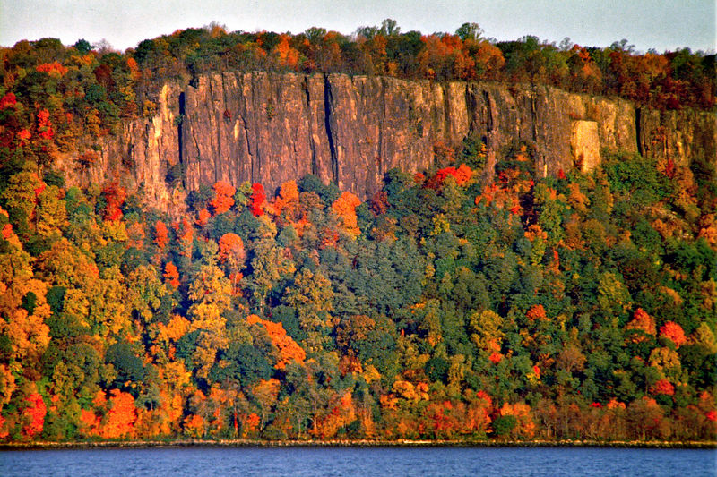 New Jersey Palisades Dressed in Fall Splendor at Sunrise