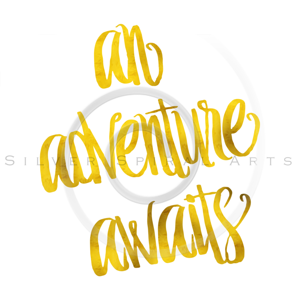 An Adventure Awaits Quote Gold Faux Foil Metallic Quotes