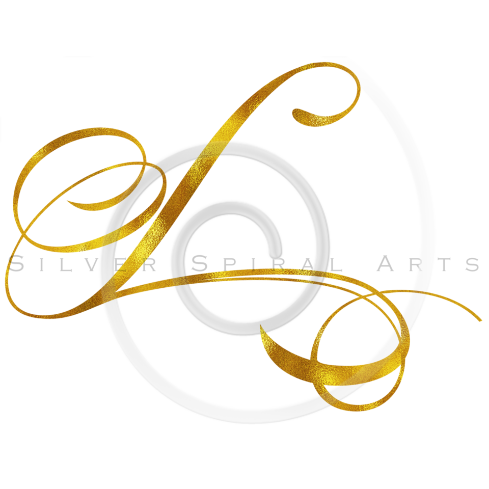 Monogram L Gold Faux Foil Monograms Metallic Initials