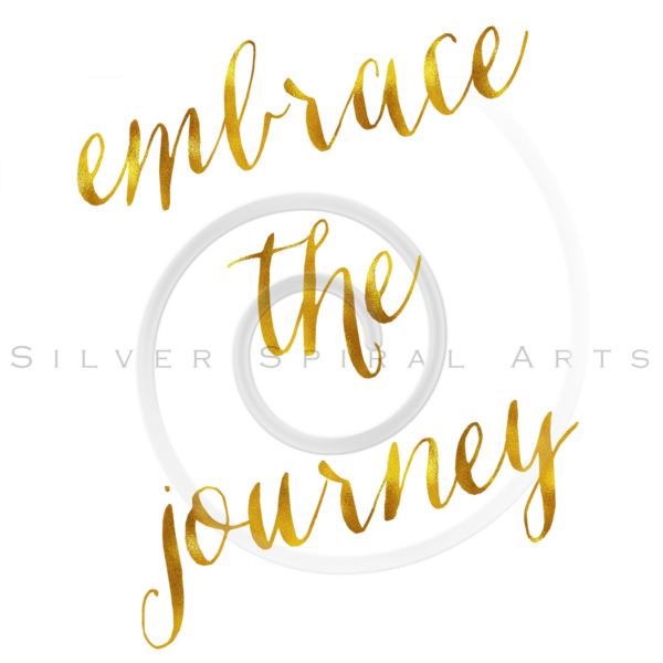 Embrace The Journey Quote Gold Faux Foil Quotes