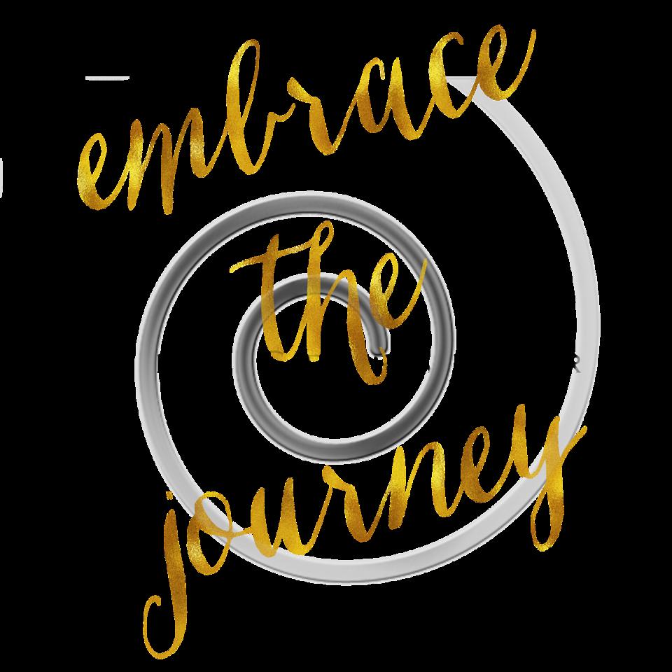 Embrace The Journey Quote Gold Faux Foil Quotes