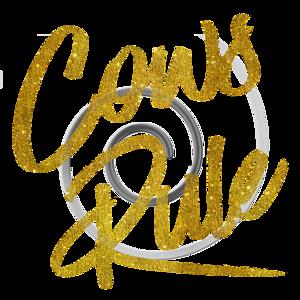 Cows Rule Gold Faux Foil Metallic Glitter Quote