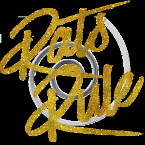 Rats Rule Gold Faux Foil Metallic Glitter Quote