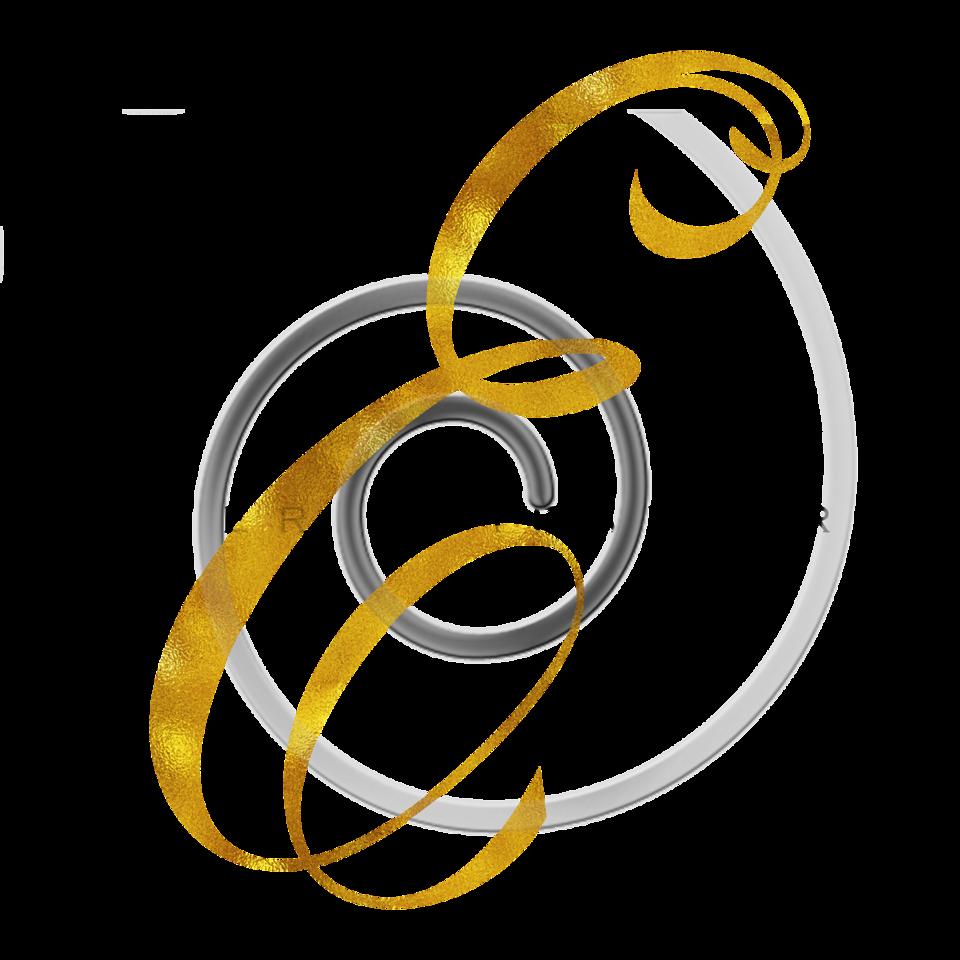 Monogram E Gold Faux Foil Monograms Metallic Initials