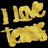 I Love Tennis Gold Faux Foil Metallic Motivational Quote