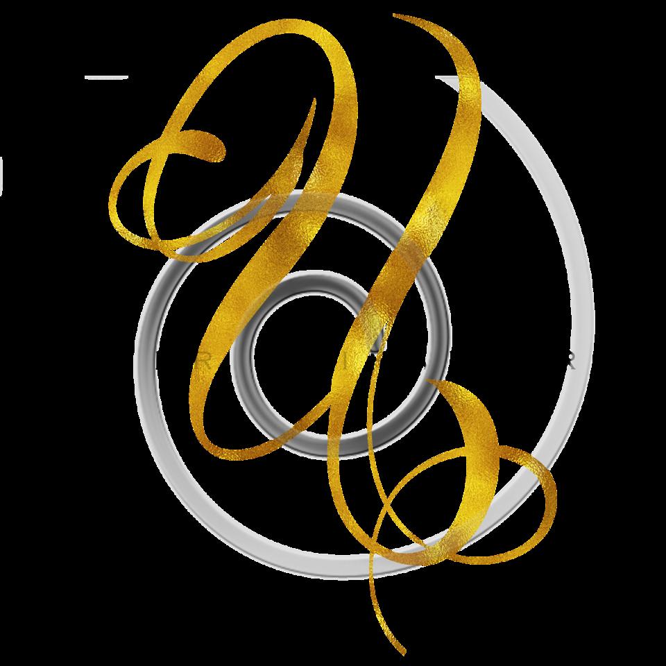 Monogram U Gold Faux Foil Monograms Metallic Initials