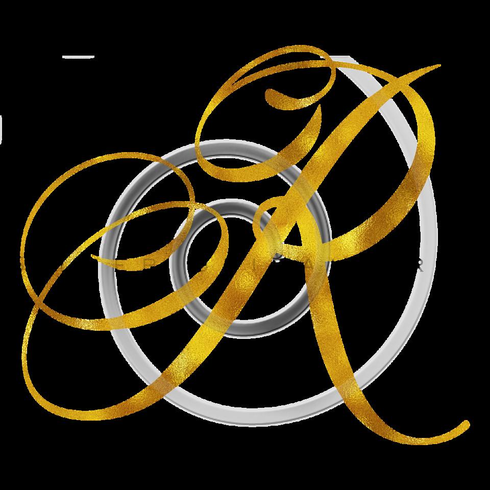 Monogram R Gold Faux Foil Monograms Metallic Initials